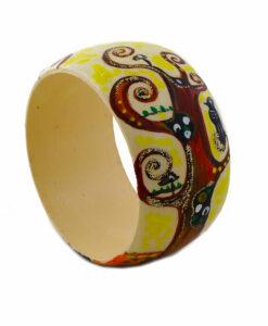 Bracciale dipinto a mano – L' albero della vita di Klimt