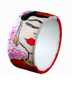 Bracciale quadri famosi dipinto a mano – I Love Frida Kahlo