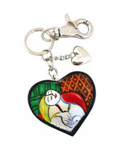 Portachiavi dipinto a mano – Il sogno di Picasso
