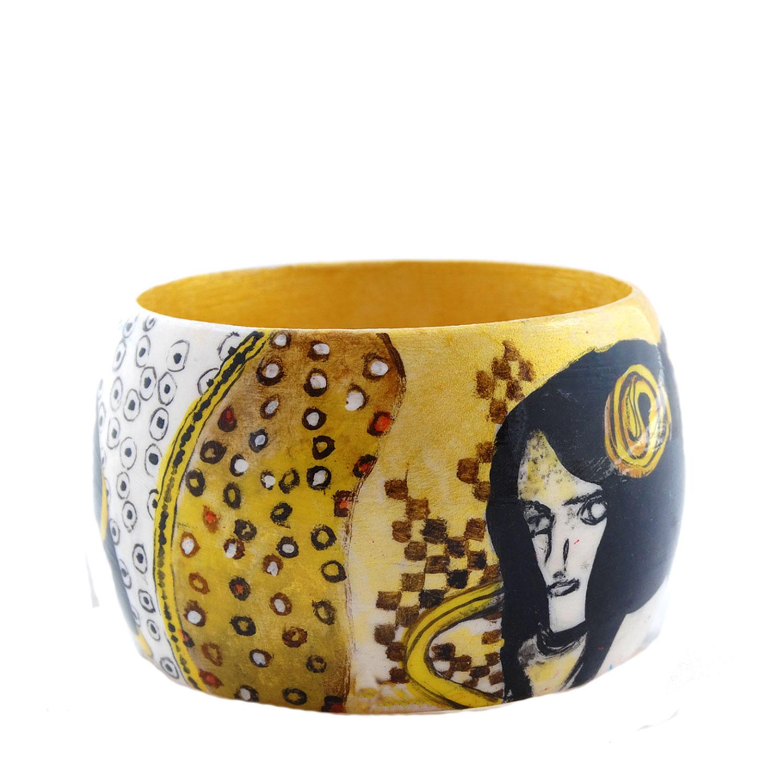 Bracciale dipinto a mano –Le forze ostili di Klimt