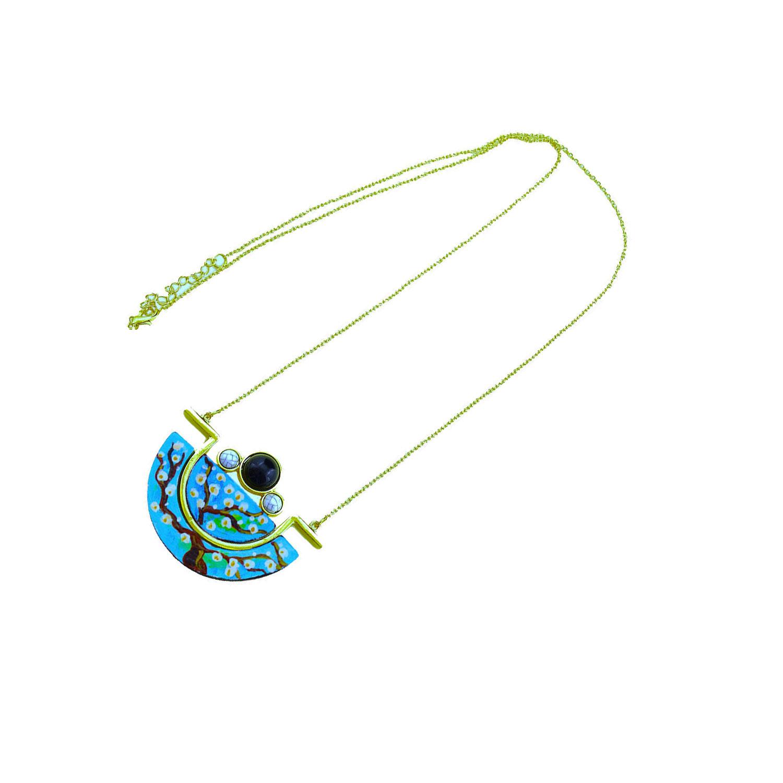 Collana dipinta a mano – Il mandorlo di Van Gogh