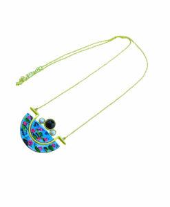 Collana dipinta a mano – Le ninfee di Monet