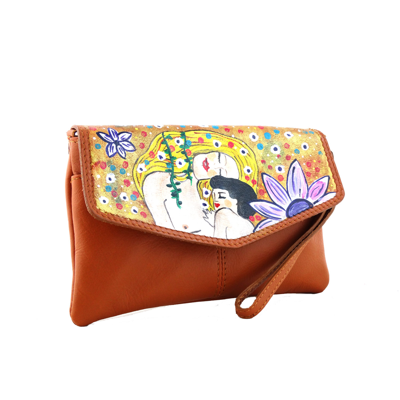 Borsa dipinta a mano –Madre e figlio di Klimt