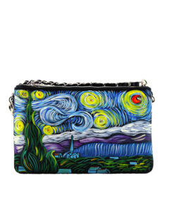 Hand-painted handbag - The Starry Night by Van Gogh