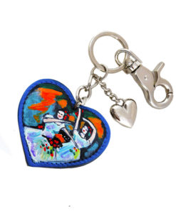 Hand painted keychain – The dancers by Degas