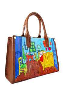Hand painted bag - The room by Van Gogh