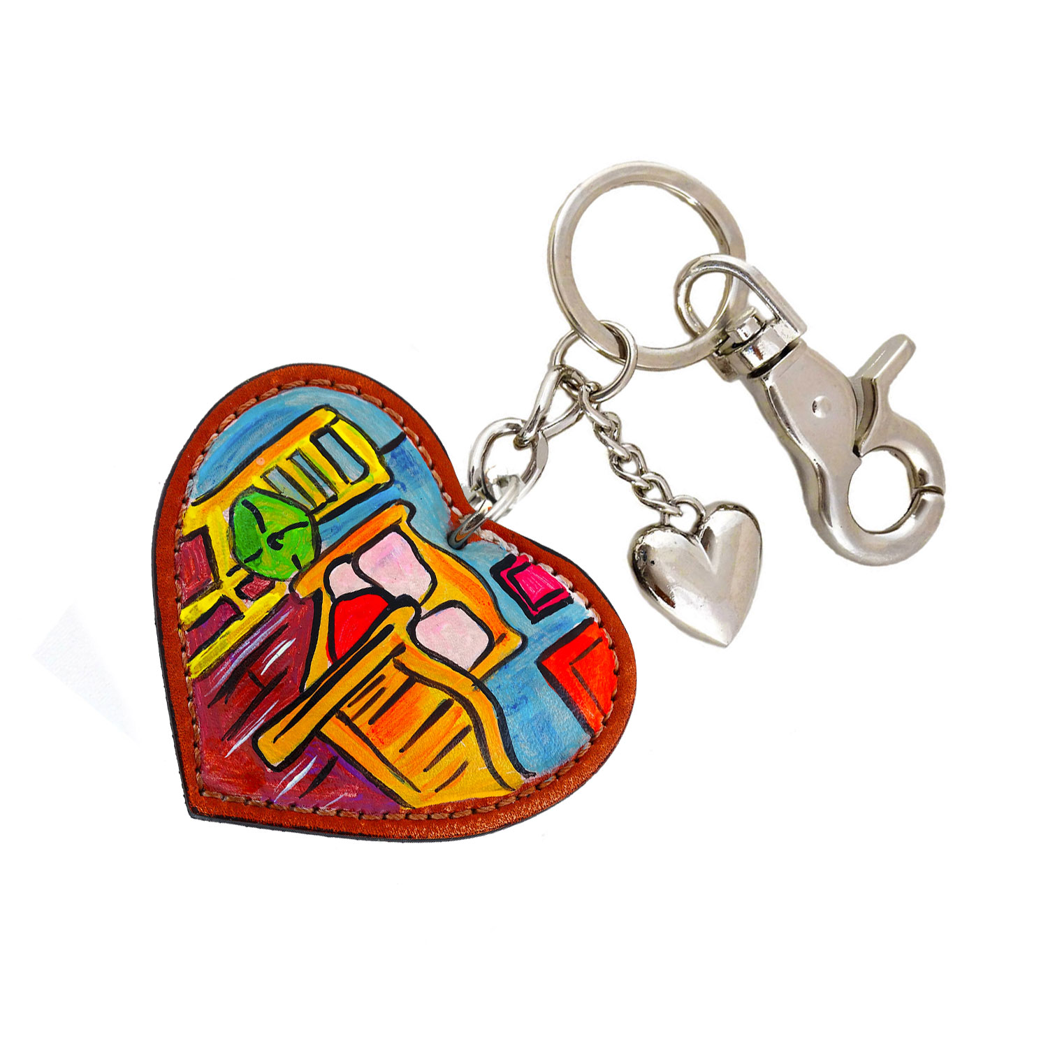 Hand painted keychain – The room by Van Gogh