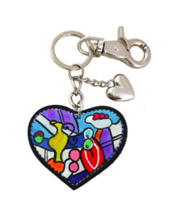 Hand painted keychain - Nude with still life by Picasso