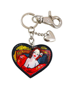 Hand painted keychain – Picture girl