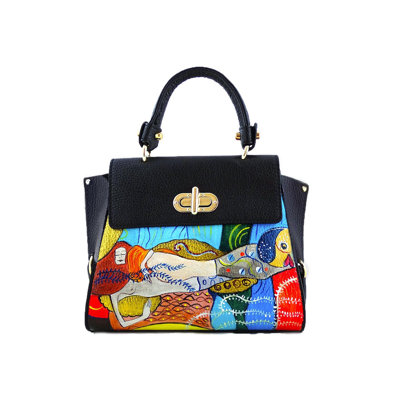 Borsa dipinta a mano – Serpenti d'acqua di Klimt