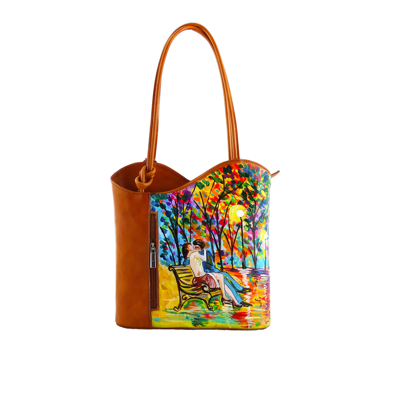 Hand painted bag - Tribute to love by Leonid Afremov
