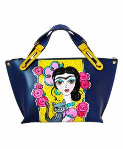 Borsa dipinta a mano – Adorabile Frida Kahlo