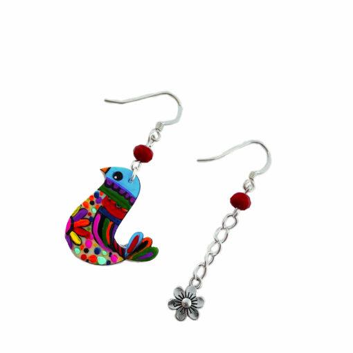 Orecchini dipinti a mano – Cip cip Multicolor