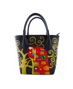 Hand painted bag - The embrace by Klimt