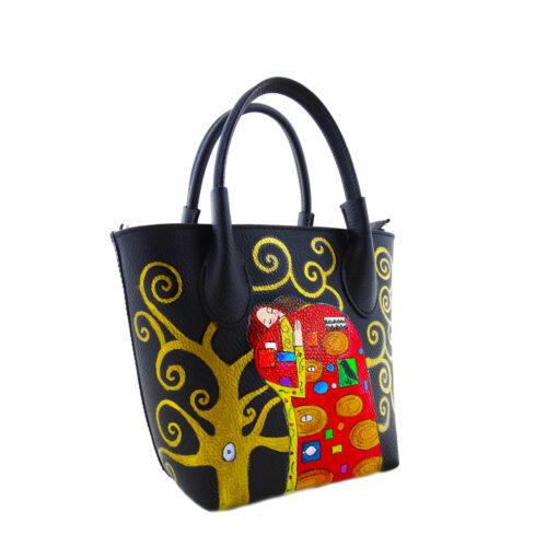 Borsa dipinta a mano – L' abbraccio di Klimt