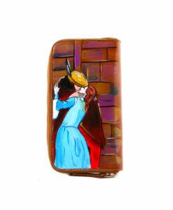 Portafoglio dipinto a mano – Il Bacio di Hayez