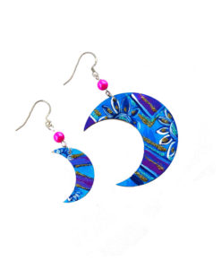 Hand-painted earrings - East moons