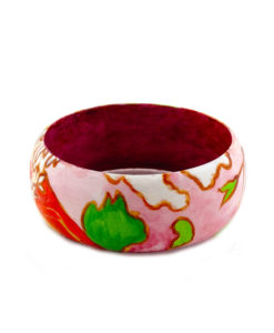 Hand-painted bangle - Spring by Mucha