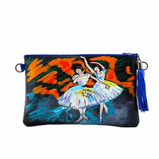 Borsa pochette dipinta a mano – Le ballerine di Degas