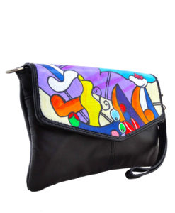 Hand-painted bag pochette - Nude with still life by Picasso