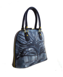 Borsa dipinta a mano – L' Albero Argentato di Mondrian