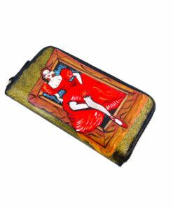 Portafoglio in pelle dipinto a mano – Picture girl