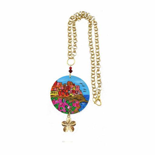 Collana dipinta a mano – Manarola