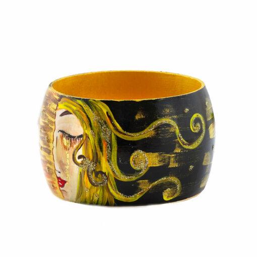 Bracciale dipinto a mano – Le lacrime di Freyja di Zilberman