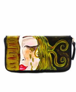 Portafoglio da donna dipinto a mano – Le lacrime di Freyja di Zilberman