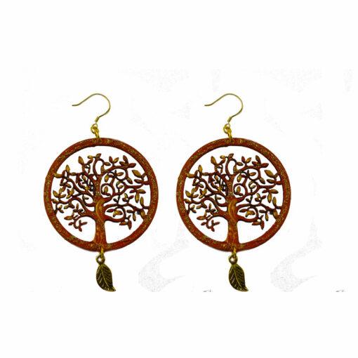 Orecchini dipinti a mano – L' albero della vita di Klimt