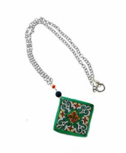 Collana dipinta a mano – Maioliche a rombo ceramica di Vietri
