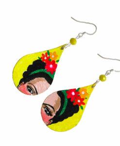 Orecchini dipinti a mano – Frida, I love you!