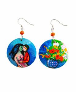 Orecchini dipinti a mano – Bouquet di fiori di Chagall
