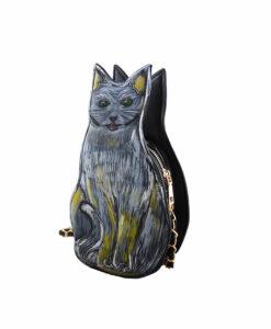 Borsa dipinta a mano - Micio Gatto