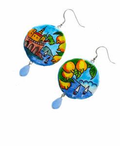 Orecchini in ceramica dipinta a mano – Amalfi in ceramica