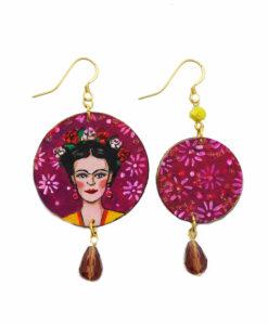 Orecchini dipinti a mano – Love Frida