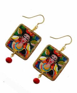 Orecchini dipinti a mano – Ti amo.. Frida