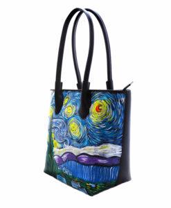 Borsa dipinta a mano – La Notte stellata di Van Gogh