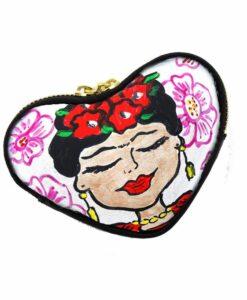 Portamonete dipinto a mano - I Love Frida Kahlo