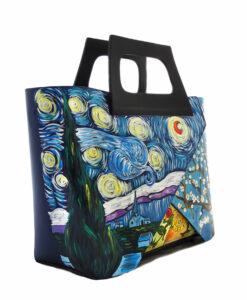 Borsa dipinta a mano - Trittico omaggio a Van Gogh