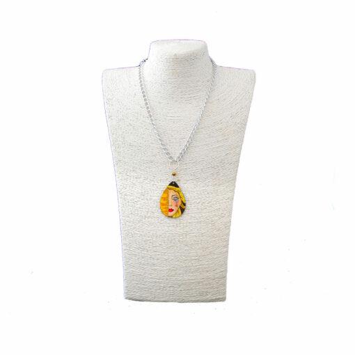 Collana dipinta a mano – Le lacrime di Freyja di Anne Marie Zilberman